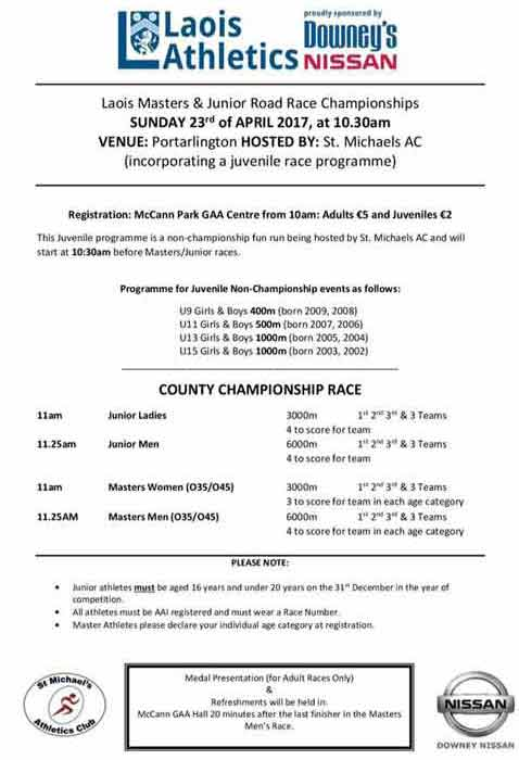 Next Up - Laois Masters and Junior Road Race Championship