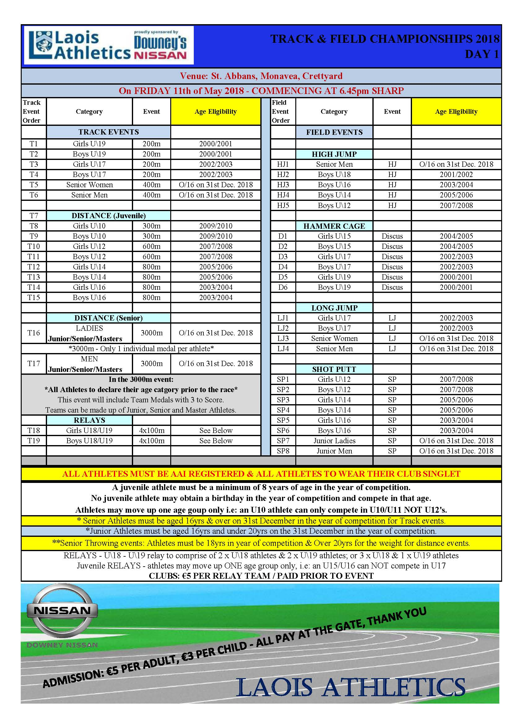 Laois Track Field Programme 2018 Day 1.pdf Page 1