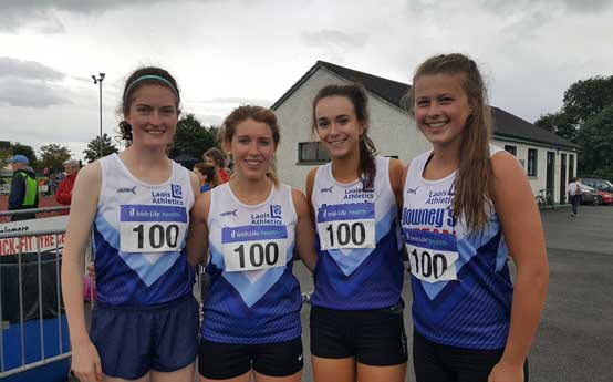Louise Stack and Katie Walsh at National League Day2 2017 Pic Laois Athletics